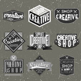 Retro Vintage Insignias or Logotypes set Royalty Free Stock Photo