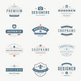Retro Vintage Insignias or Logotypes set Royalty Free Stock Photography