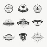 Retro Vintage Insignias or Logotypes set Stock Images