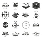 Retro Vintage Insignias or Logotypes set. Vector Stock Images