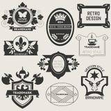 Retro Vintage Insignias or Logotypes Stock Image