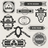 Retro Vintage Insignias or Logotypes Royalty Free Stock Photography