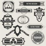 Retro Vintage Insignias or Logotypes. Vector set stock illustration