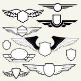 Retro Vintage Insignias or Logotypes stock illustration