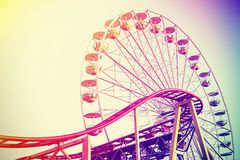 Retro vintage instagram stylized amusement park Stock Photo