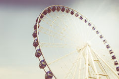 Retro vintage instagram stylized picture of an amusement park. Royalty Free Stock Photo