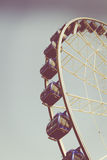 Retro vintage instagram stylized picture of an amusement park. Royalty Free Stock Photography