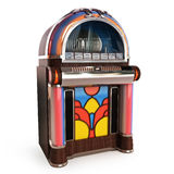 Retro vintage jukebox. On a white background 3d model vector illustration