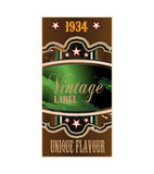 Retro vintage label Royalty Free Stock Images