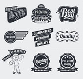 Retro Vintage labels Stock Photo