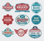 Retro Vintage labels stock image
