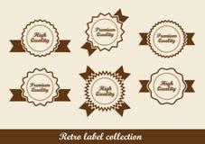 Retro vintage labels Royalty Free Stock Photo