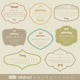 Retro vintage labels Royalty Free Stock Photo