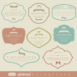 Retro vintage labels Stock Photos