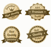 Retro vintage labels set Royalty Free Stock Images