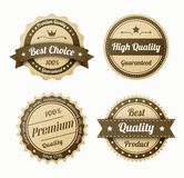 Retro vintage labels set Royalty Free Stock Photo