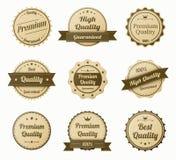 Retro vintage labels set Stock Images