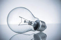 Retro vintage light bulb with on white background Royalty Free Stock Photo