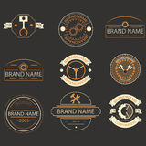 Retro vintage logo, brands logo,business signs. Royalty Free Stock Images