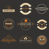 Retro vintage logo, brands logo,business signs. Stock Images