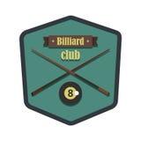 Retro vintage logo emblem billiard game Stock Photos