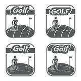Retro and vintage logo golf club. Vector emblems Stock Photo