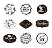 Retro Vintage Logotypes and insignias set. Vector design elements, business signs, logos, identity Stock Images