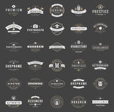 Retro Vintage Logotypes or insignias set vector Stock Image