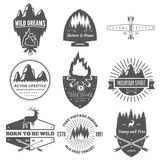Retro Vintage Logotypes or insignias set. Vector design elements. Vector design elements for signs, logos, labels and badges Stock Image