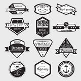 Retro Vintage Logotypes set. Royalty Free Stock Photography
