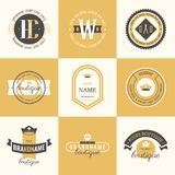 Retro Vintage Logotypes set. Vector design elements, business signs, logos, identity, labels, badges Royalty Free Stock Photo