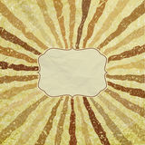 A retro or vintage looking rays pattern. EPS 8 Stock Photo