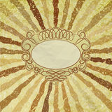 A retro or vintage looking rays pattern. EPS 8 Royalty Free Stock Photo