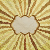 A retro or vintage looking rays pattern. EPS 8 Stock Image