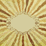 A retro or vintage looking rays pattern. EPS 8 Royalty Free Stock Images