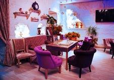 Retro vintage luxury interior. Restaurant, night club Royalty Free Stock Image