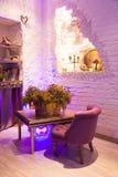 Retro vintage luxury interior. Restaurant, night club Royalty Free Stock Photography