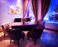 Retro vintage luxury interior. Restaurant, night club Royalty Free Stock Photos