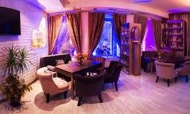 Retro vintage luxury interior. Restaurant, night club Stock Photo