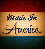 Retro - Vintage Made in America Sign Royalty Free Stock Images