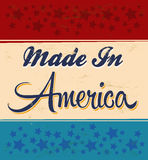 Retro - Vintage Made in America Sign Stock Photos