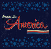 Retro - Vintage Made in America Sign - Vector  Royalty Free Stock Photo