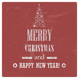 Retro Vintage Merry Christmas Background with Grun Royalty Free Stock Photos