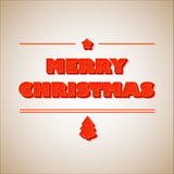 Retro Vintage Merry Christmas Greeting Card. Illustration Stock Illustration
