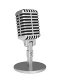 Retro, vintage microphone Stock Photo