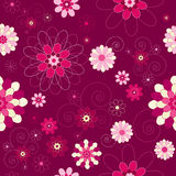Retro/vintage/modern floral seamless background Royalty Free Stock Images