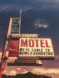 Retro Vintage Motel Sign. Retro Vintage Image Of Old Motel Sign In Small Town USA In The Mountains Royalty Free Stock Images