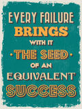 Retro Vintage Motivational Quote Poster. Vector illustration Royalty Free Stock Image