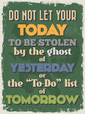 Retro Vintage Motivational Quote Poster. Vector illustration Royalty Free Stock Photos