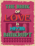 Retro Vintage Motivational Quote Poster. Vector illustration Stock Images